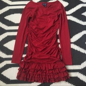 Ralph Lauren long sleeved Crimson Girls Dress